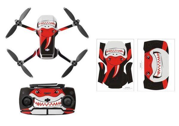 Kit adesivi protettivi per droni con telecomando in PVC impermeabile per Mavic Mini RED SHARK