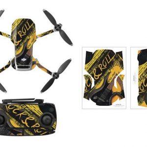 Kit Autocollants Stickers Protecteurs Drone Telecommande Waterproof en PVC pour Mavic Mini ROCK ROLL