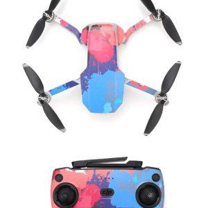 Kit Autocollants Stickers Protecteurs Drone Telecommande Waterproof en PVC pour Mavic Mini TACHES DE PEINTURE 2