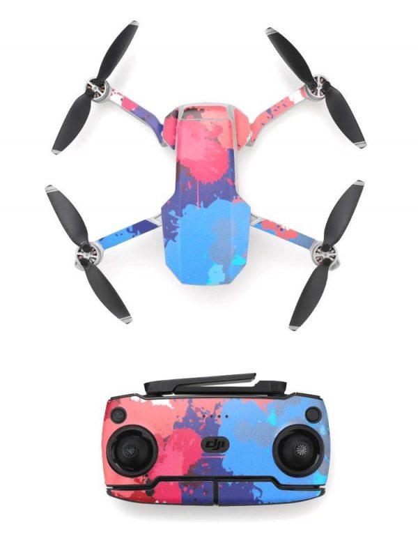 Kit adesivi protettivi per droni con telecomando in PVC impermeabile per Mavic Mini PAINT STAINS 2