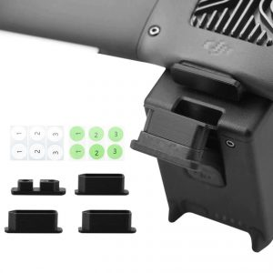 4 Dust Covers for Charging Ports 1 for Drone Ports 3 for Battery Ports for DJI FPV Combo