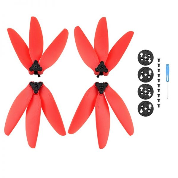 4 3-Blatt-Schnellmontagepropeller für DJI Mavic Mini 1 Mini 2 RED IMG2