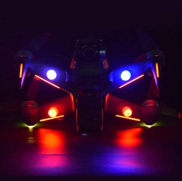 4 Lumieres LED Universelles pour Vol de Nuit pour DJI FPV Combo Mavic Mini 2 Air 2 Mavic 2 Pro Zoom FIMI X8 SE 2020 IMG1