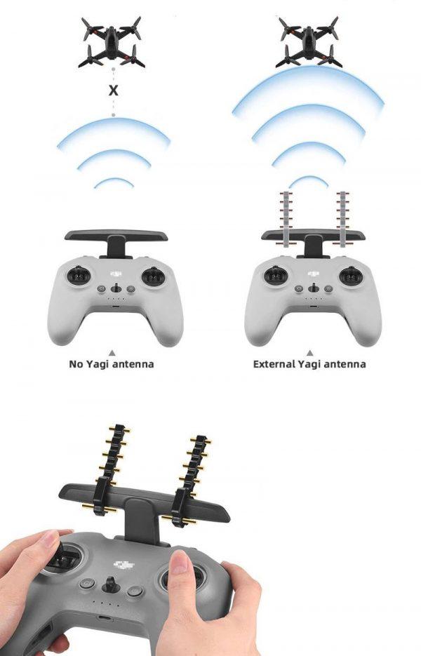Amplificateurs Antennes Yagi 5.8Ghz Booster Signal Longue Portee pour Telecommande DJI FPV Remote Controller 2 – IMG2