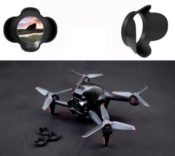 Protezione per visiera parasole Obiettivo anti-riflesso Gimbal per fotocamera per DJI FPV Combo IMG1