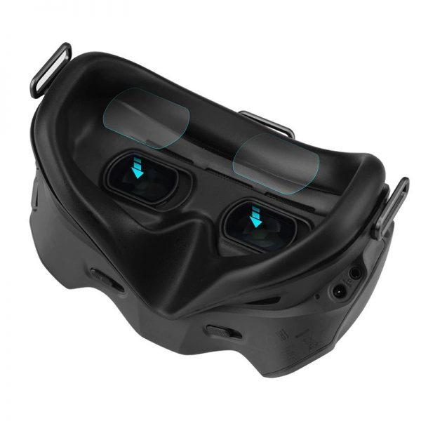 Pellicole protettive in vetro temperato 9H resistente ai graffi e alla polvere per occhiali combo DJI FPV V2 IMG1