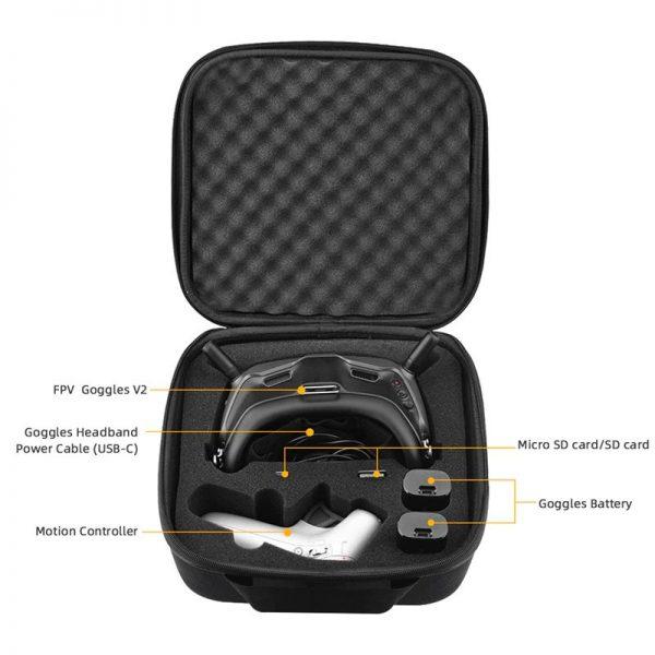Ampia custodia in nylon per il trasporto e la custodia per DJI FPV Combo Goggles V2 IMG 2 Goggles