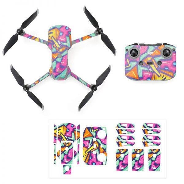 Kit Autocollants Stickers Protecteurs Drone Telecommande Waterproof en PVC pour Mavic Air 2 ART PEINTURE IMG1