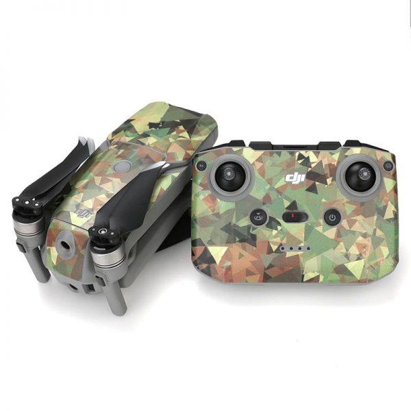 Kit Autocollants Stickers Protecteurs Drone Telecommande Waterproof en PVC pour Mavic Air 2 CAMOUFLAGE 3D IMG2