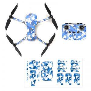 Wasserdichtes PVC-Fernbedienungs-Drohnenschutz-Aufkleber-Kit für Mavic Air 2 BLUE CAMOUFLAGE IMG1