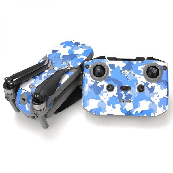 Wasserdichtes PVC-Fernbedienungs-Drohnenschutz-Aufkleber-Kit für Mavic Air 2 BLUE CAMOUFLAGE IMG2