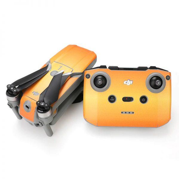 Kit Autocollants Stickers Protecteurs Drone Telecommande Waterproof en PVC pour Mavic Air 2 ORANGE SUNSHINE IMG2