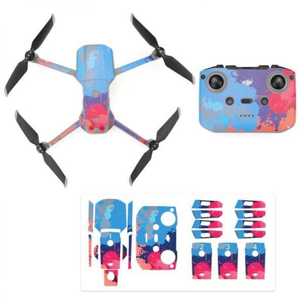 Kit Autocollants Stickers Protecteurs Drone Telecommande Waterproof en PVC pour Mavic Air 2 TACHES DE PEINTURE 2 IMG1