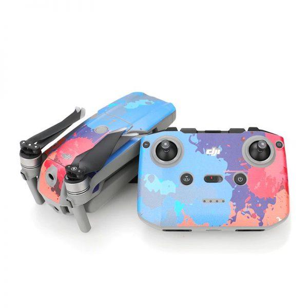 Kit Autocollants Stickers Protecteurs Drone Telecommande Waterproof en PVC pour Mavic Air 2 TACHES DE PEINTURE 2 IMG2