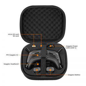 Petite Sacoche de Rangement et Transport en Nylon pour Lunettes DJI FPV Combo Goggles V2 IMG2