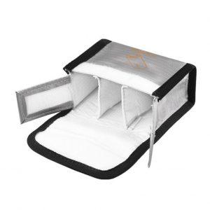 Sacoche de Securite Protection Anti Explosion Resistant a la Chaleur pour DJI FPV Combo Goggles V2 ARGENT TAILLE L pour 3 Batteries