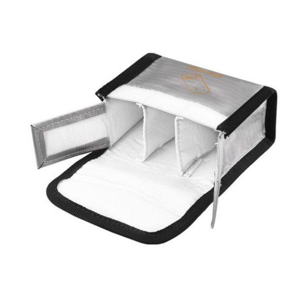 Borsa da viaggio antideflagrante resistente al calore per occhiali combo DJI FPV V2 SILVER SIZE L per 3 batterie