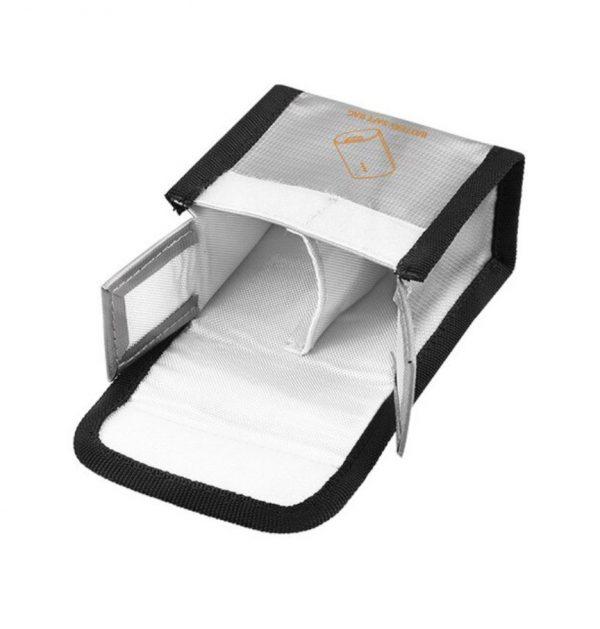 Sacoche de Securite Protection Anti Explosion Resistant a la Chaleur pour DJI FPV Combo Goggles V2 ARGENT TAILLE M pour 2 Batteries