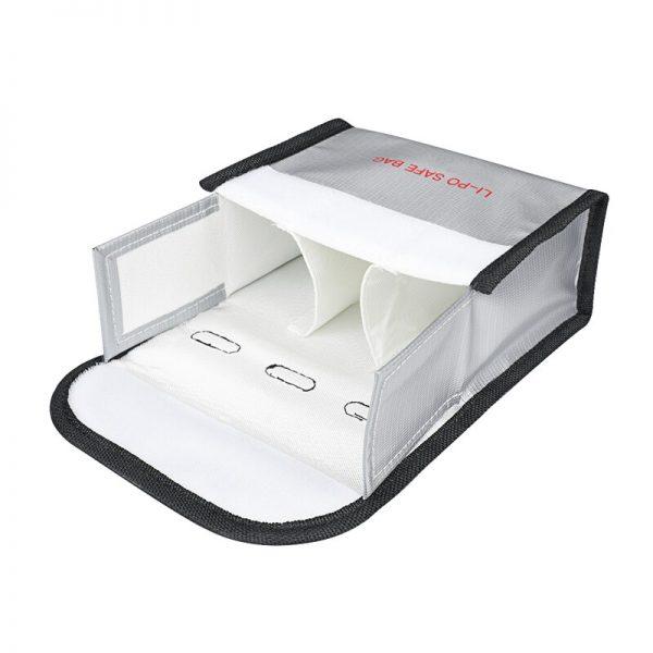 Sacoche de Securite Protection Anti Explosion Resistant a la Chaleur pour DJI FPV Combo TAILLE L pour 3 Batteries IMG2