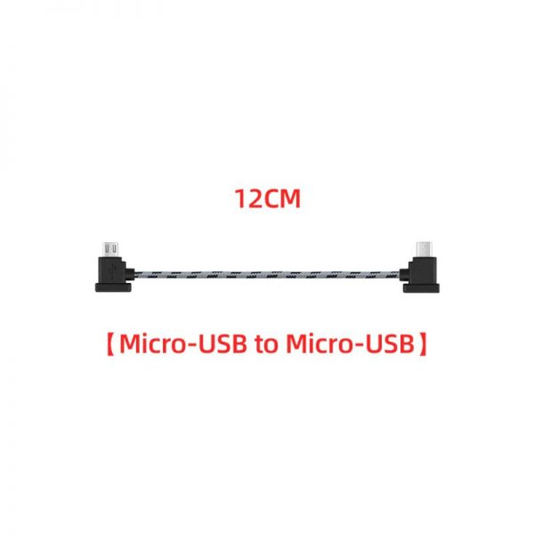 Cavo dati in nylon da 12 cm o 30 cm per DJI Mavic Mini Mavic 2 Mavic Pro Air Spark 12 cm MICRO USB