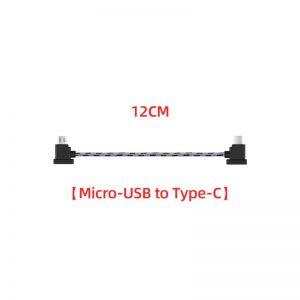 Cavo dati in nylon da 12 cm o 30 cm per DJI Mavic Mini Mavic 2 Mavic Pro Air Spark 12 cm TIPO C