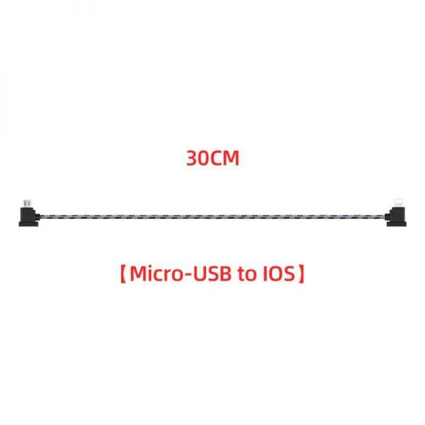 Cavo dati in nylon da 12 cm o 30 cm per DJI Mavic Mini Mavic 2 Mavic Pro Air Spark 30 cm IOS