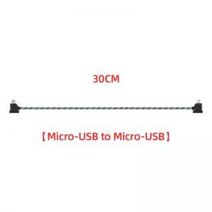 Cavo dati in nylon da 12 cm o 30 cm per DJI Mavic Mini Mavic 2 Mavic Pro Air Spark 30 cm MICRO USB