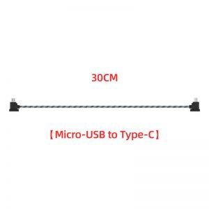 Cavo dati in nylon da 12 cm o 30 cm per DJI Mavic Mini Mavic 2 Mavic Pro Air Spark 30 cm TIPO C