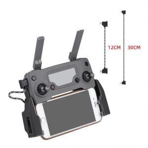 Cavo dati in nylon da 12 cm o 30 cm per DJI Mavic Mini Mavic 2 Mavic Pro Air Spark IMG1