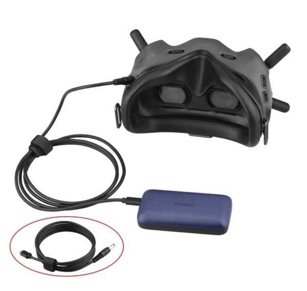 Cavo di alimentazione da 153 cm da USB tipo C a CC per Power Bank per DJI FPV Goggles V2 IMG1