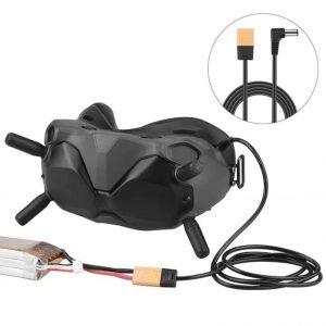 Cavo di alimentazione a batteria da XT60 a CC per DJI FPV Goggles V2 IMG1