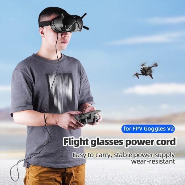 Cavo di ricarica da USB tipo C a CC da 130 cm per occhiali DJI FPV V2 IMG2
