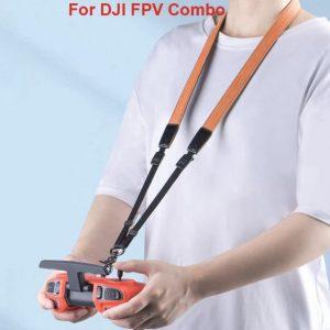Cavo cinturino in pelle nera o marrone per telecomando DJI FPV Combo IMG1