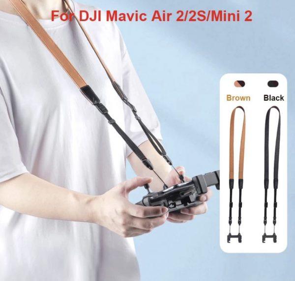 Cavo cinturino in pelle nera o marrone per telecomando DJI Mavic Air 2 2S Mini 2 IMG1MG