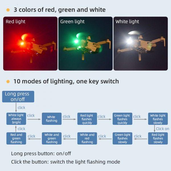 Luce stroboscopica universale per DJI Phantom Mavic 2 Air 2 2S Mini 1 2 Spark FIMI X8 SE 2020 IMG3